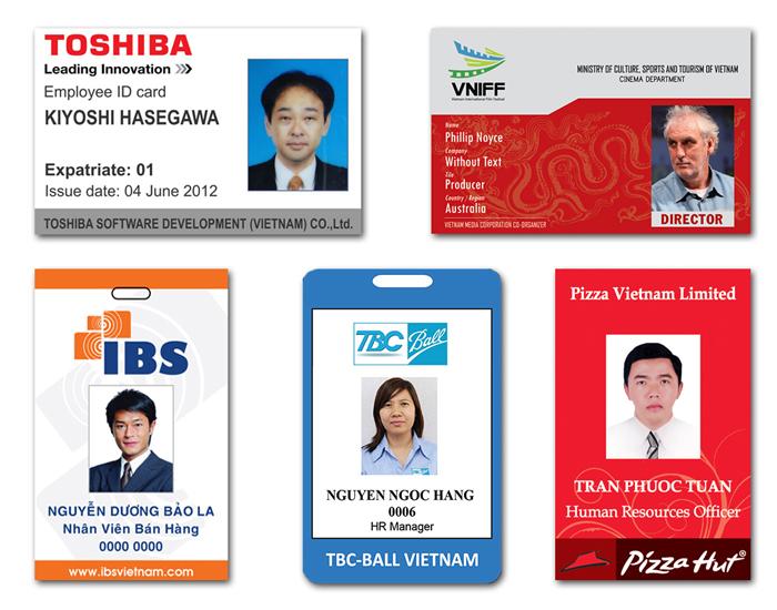 in thẻ nhựa nhân viên - in nhanh ttn
