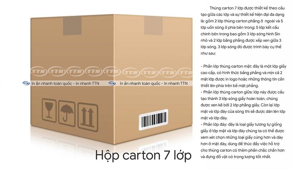 thùng carton 7 lớp - in nhanh ttn